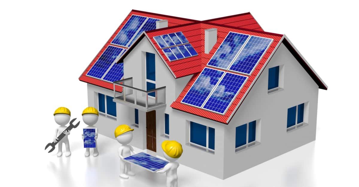 Aufbau einer PV Anlage